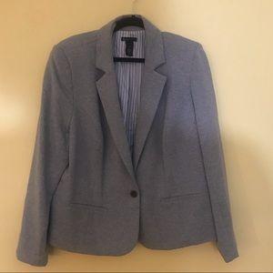 Lane Bryant 22 Sweater Material Grey Blazer